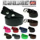 New Genuine Full Grain Snap On Mens Leather Belt Made in the UK
