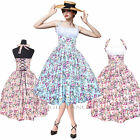 Maggie Tang Vintage Retro Dancing Swing Rockabilly Dress Long Skirt Party 509