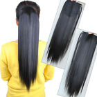 Women Fashion Long Straight Ponytail Hairpiece Clip in/on Hair Extensions JP05