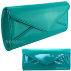 Ladies Turquoise Patent Leather Style Clutch Bag Evening Clutch Bag Handbag