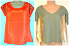 M&S PER UNA /LIMITED COLLECTION Ladies Short Sleeve Sequin Top -size 14-20-BNWT