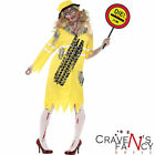 Zombie Lollipop Lady Costume Road Kill Uniform Womens Ladies Fancy Dress New