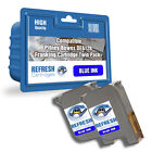 PITNEY BOWES BLUE TWINPACK COMPATIBLE FRANKING MACHINE INK CARTRIDGES DE6128