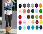 Women Cotton Spandex Ankle Length Yoga Leggings Slim Pants S-5XL 32 Colors USA