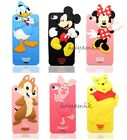 New 3D Cute Lovely Disney Cartoon Silicone Soft Case For iPhone 4/4S/5
