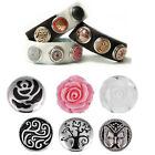 40 style Chunks Buttons fit Noosa Leather bracelet Punk Style Bijoux Jewelry