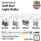 10x 45mm Round Golf Ball Light Bulbs - 60w,40w,25w -  ES SES BC SBC - Clear/Opal