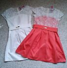 Kids GIRLS CORAL IVORY OCCASION PARTY WEDDING CHRISTMAS DRESS  LACE AGE 4 5  6 7
