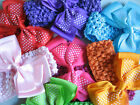 CROCHET HEAD BAND & BOW - SATIN BOW - BABY TODDLER GIRL LADIES HAIR ACCESSORIES