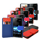 6 COLOUR PU LEATHER WALLET FLIP CASE COVER FOR SONY XPERIA L C2104 C2105