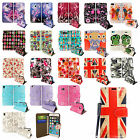 BOOK TYPE CARD HOLDER WALLET FLIP CASE COVER FOR VARIOUS PHONES + GUARD + STYLUS