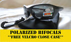 BIFOCAL SUNGLASSES POLARIZED- FISHING, DRIVING, GOLF Smoke **FREE CASE**