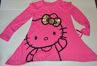 Hello Kitty Girls Long Sleeve Shirt Top Pink  Size XS 4-5 NWT