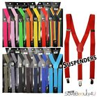 14 Colors Mens Womens Clip-on Suspenders Elastic Y-Shape Adjustable Braces Belt