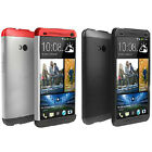 1* Tri-color Double Dip Full Protection Hard Cover Case For HTC One M7