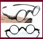 Men Women 32mm Small round Black Reading eye glasses Power +1.5 +2 +2.5 +3 +3.5