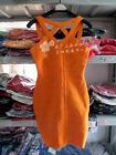 New fashion orange colors Bandage Bodycon Dress Cocktail party dress B149