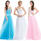 Homecoming Beaded Satin Tulle Quinceanera Ball gown Evening Wedding Prom Dresses