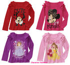 MINNIE MOUSE SOFIA PRINCESS BELLE 2T 3T 4T 5T Girls SHIRT TEE TOP Disney