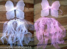 Baby Ribbon Tutu & Sparkly Fairy Wings set Tiny for Baby Girls-Parties 2 Colours