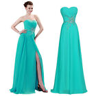 2015 Long Evening Formal Bridesmaid Wedding Ball Gown Prom Party Dresses Pageant