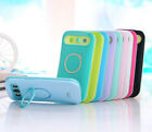 Dual Color Hybrid Back Stand Case Cover For Samsung Galaxy S3 SIII I9300 Iglow