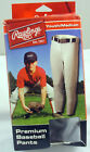 Rawlings Premium Baseball Pants Youth Medium WALY31P-BG-89  Gray