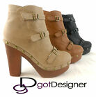NEW Womens Ankle Boots Fashion Platform Shoe High Heels Pumps Spike Stylish Sexy