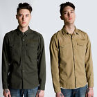 MENS FLY 53 VH LONG SLEEVE BUTTON COLLARED MILITARY STYLE SHIRT TOP SIZE S-XXL