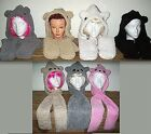 KOALA or TEDDY BEAR SHERPA HOODED SCARF ATTACHED MITTS 3 IN 1 CHILD or ADULT