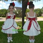 Cream Satin Formal Dress Wedding Flower Girl Christening  Formal Size 00-3 FG223