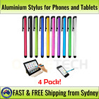 4x Aluminium Stylus for Mobile Phone, iPad, Galaxy, iPhone, Touch Screen, Tablet