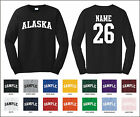 State of Alaska Custom Personalized Name & Number Long Sleeve T-shirt