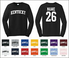 State of Kentucky Custom Personalized Name & Number Long Sleeve T-shirt