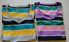 TOMMY HILFIGER Womans V-Neck Striped T-Shirt Top Size S M L XL or XXL  NWT