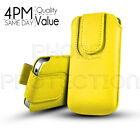 MAGNET BUTTON PREMIUM PU LEATHER PULL TAB CASE POUCH FOR VARIOUS SAMSUNG MOBILES