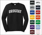Country of Uruguay College Letter Long Sleeve Jersey T-shirt