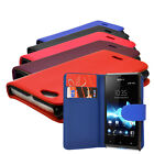 5 Colour Flip Wallet Phone Case Cover For Sony Xperia J ST26I + Free Screen Film