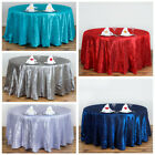 "10 pcs 120"" Pintuck Fancy Round Tablecloths Linens for Parties Wedding Catering"