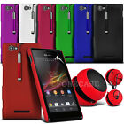 Hard Back Case Cover, Retractable Strylus Pen & Speaker Fits Sony Xperia M