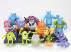 12pcs Set Monsters Inc. Monsters University Mike Sully PVC Figure New Toy Loose