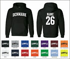 Country of Denmark Custom Personalized Name & Number Jersey Hooded Sweatshirt