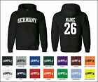 Country of Germany Custom Personalized Name & Number Jersey Hooded Sweatshirt