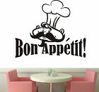 Bon Appetit wall art sticker Kitchen Chef