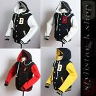 New Men's Hoodies Varsity Letterman College D Wing Baseball Cotton Hood Jacket