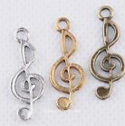 10pcs Tibetan Silver Music Notation Connectors for Bracelet Charms Pendant