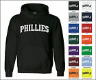 Phillies College Letter Team Name Jersey Hooded Sweatshirt