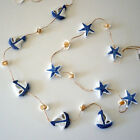 Nautical Hanger - wooden Boats or Starfish with natural shells on rope