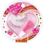 Koji Japan Spring Heart False Eyelashes & Glue Set - Transparent Band (New)