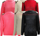 W59 NEW WOMENS LADIES CROCHET KINTTED STUDDED PLUS SIZE JUMPER CARDIGAN IN 08-22